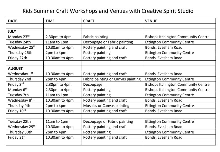 css summer events